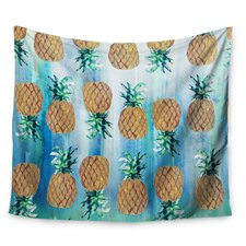 Pineapple Beach by Nikki Strange Wall Tapestry