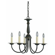 59th Street 5-Light Candle-Style Chandelier