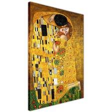 """Leinwandbild """"Der Kuss"""" von Gustav Klimt, Kunstdruck"""