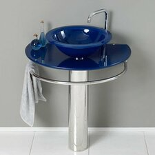 "Single 35"" Pedestal Bathroom Sink"