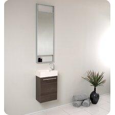 """Senza 16"""" Single Bathroom Vanity Set with Mirror"""