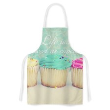 Life Is As Sweet As Cupcakes by Beth Engel Artistic Apron