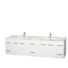 Centra 80 Double Bathroom Vanity Set by Wyndham Collection
