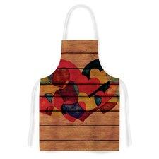 Wooden Heart by Louise Machado Artistic Apron