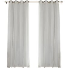 Gregg Solid Sheer Thermal Grommet Curtain Panels (Set of 2)