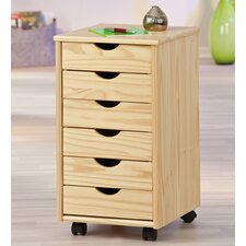 Container 6-Drawer Mobile Vertical Filing Cabinet