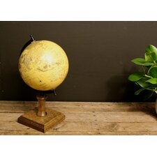 Antiqued Style on Wooden Stand Globe