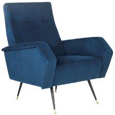 Soapstone Velvet Retro Mid Century Armchair by Mercer41™