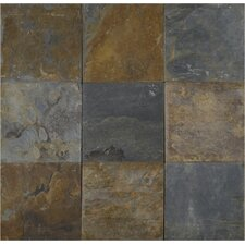 California 16'' x 16'' Slate Field Tile in Multi
