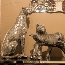 Sitting Cheetah Figurine