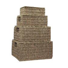 Seagrass 4 Piece Storage Basket Set