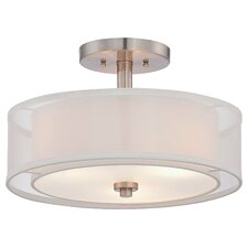 Bensenville 3-Light Drum/Cylinder Semi Flush Mount