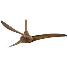 "52"" Wave 3-Blade Ceiling Fan with Handheld Remote"