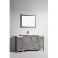 60 Single Bathroom Vanity Set with Mirror by Vanity Art
