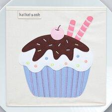 Dessert Chocolate Cupcake Canvas Storage Box
