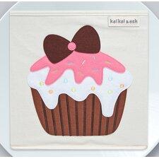Dessert Strawberry Cupcake Canvas Storage Box