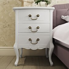 Lemaire 3 Drawer Bedside Table