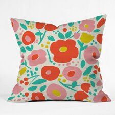 Delightful Floral Polyester Throw Pillow