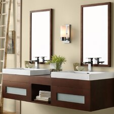 Rebecca 61 Double Bathroom Vanity Set with Mirror by Ronbow