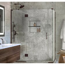 Unidoor-X 57 x 30.38 x 72 Rectangle Hinged Shower Enclosure by DreamLine