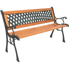 Windsor Metal and Wood Bench