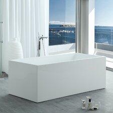 HelixBath Pompeii Modern 67 X 29.5 Freestanding Soaking Bathtub by Kardiel