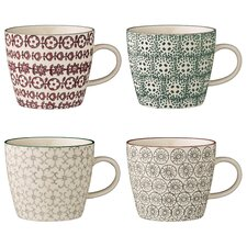 Fredonia 4-Piece Ceramic Mug Set