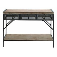 Wood Metal Console Table by Cole & Grey