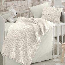 Rose Garden Wool Blended 6 Piece Crib Bedding Set