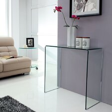 Bent Glass Console Table