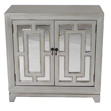 2 Door Wood Cabinet with Mirror by Heather Ann Creations