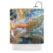 Geologic Veins Shower Curtain