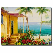 'Palm Harbor' Painting Print on Wrapped Canvas