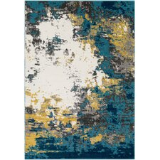 Shuff Blue/Yellow Area Rug