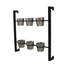 6-Piece Groves Metal Wall Planter Set