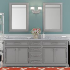 Colchester 72 Double Sink Bathroom Vanity Set - Grey by Darby Home Co