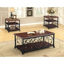 Asner 3 Piece Coffee Table Set