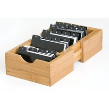 Bamboo Expandable Business Card Holder
