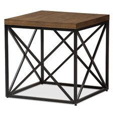 Shuffler End Table by Mercury Row