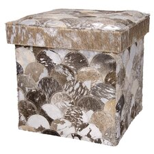 Collins Cube Leather Ottoman by House of Hampton