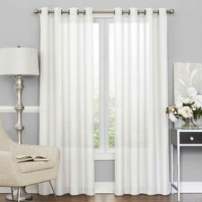Pembrey Solid Sheer Tab Top Single Curtain Panel
