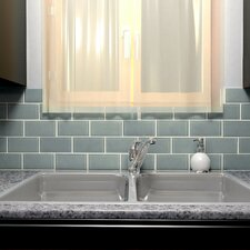 sierra 3 x 6 glass subway tile in - Colorful Subway Tile