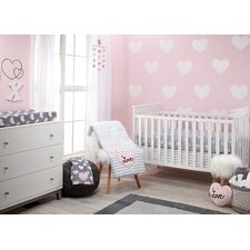 Hugs and Kisses Infant 5 Piece Crib Bedding Set