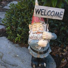 Wendell the Welcoming Gnome Statue