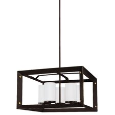 Chatauqua 100W 5-Light Shaded Chandelier