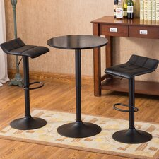 Ainsley Modern 3 Piece Pub Table Set