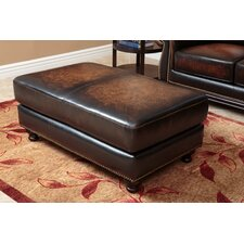 Barwood Leather Ottoman by Darby Home Co®