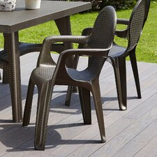 Intrecciata Rattan Style Outdoor Stacking Dining Chair