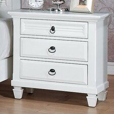 Merivale 3 Drawer Nightstand by ACME Furniture