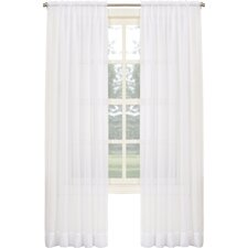 Sheer Voile Solid Rod Pocket Single Curtain Panel